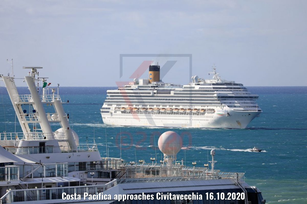 Costa Pacifica approaches Civitavecchia 16.10.2020