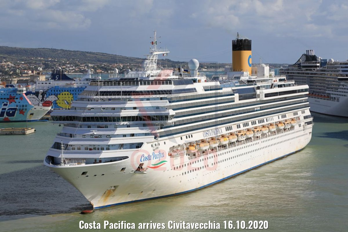 Costa Pacifica arrives Civitavecchia 16.10.2020