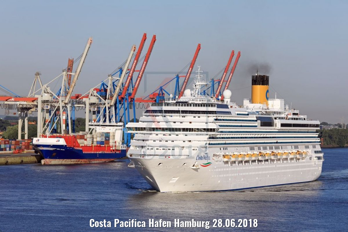 Costa Pacifica Hafen Hamburg 28.06.2018