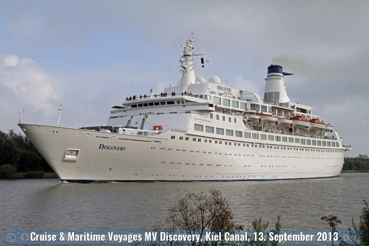 Cruise & Maritime Voyages MV Discovery, Kiel Canal, 13. September 2013