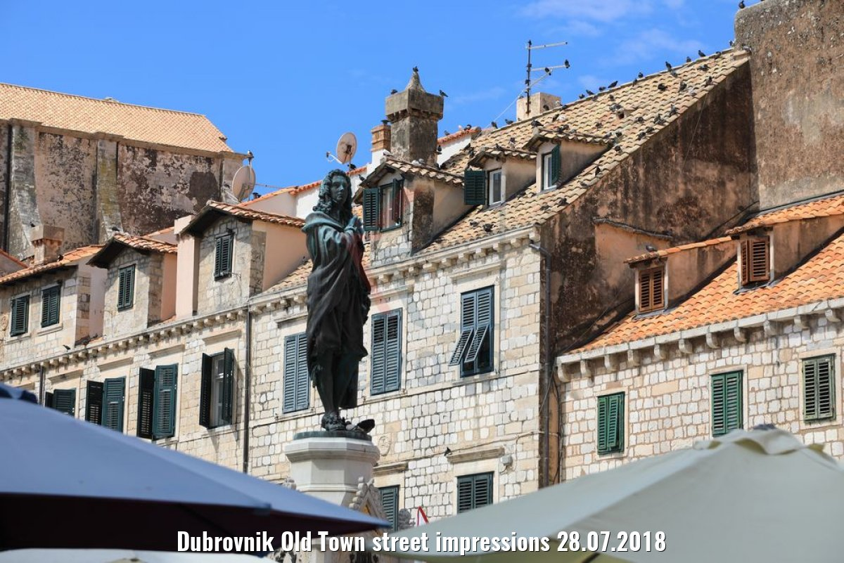 Dubrovnik Old Town street impressions 28.07.2018