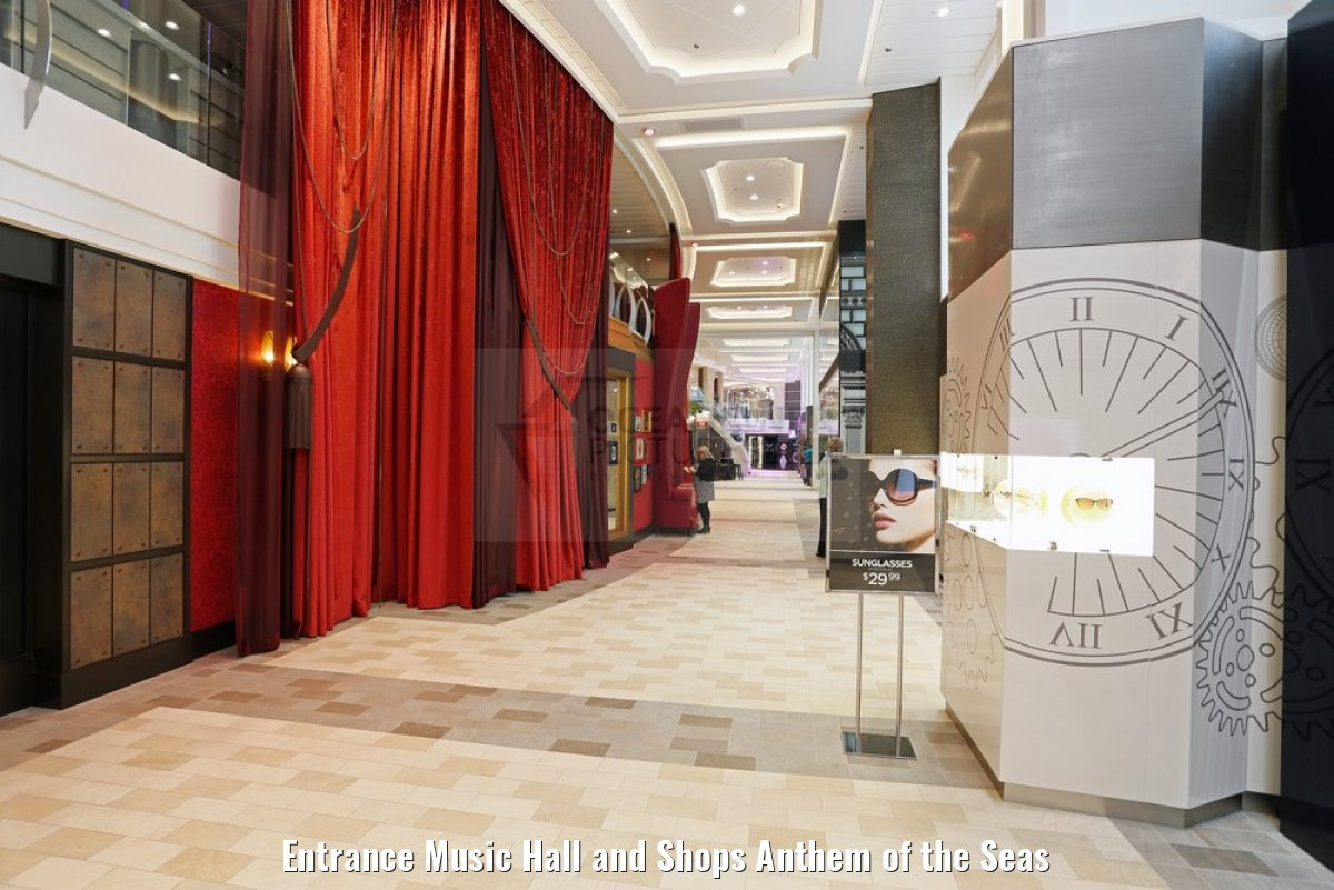 Entrance Music Hall and Shops Anthem of the Seas