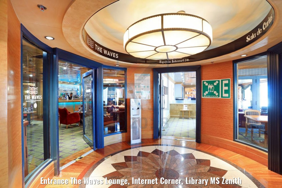 Entrance The Waves Lounge, Internet Corner, Library MS Zenith