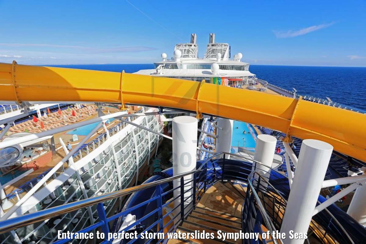 Entrance to perfect storm waterslides Symphony of the Seas