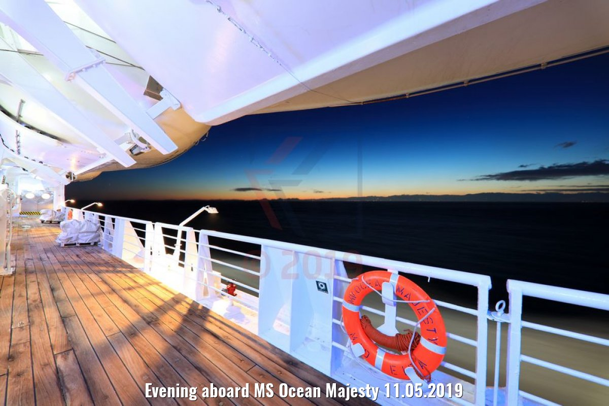 Evening aboard MS Ocean Majesty 11.05.2019
