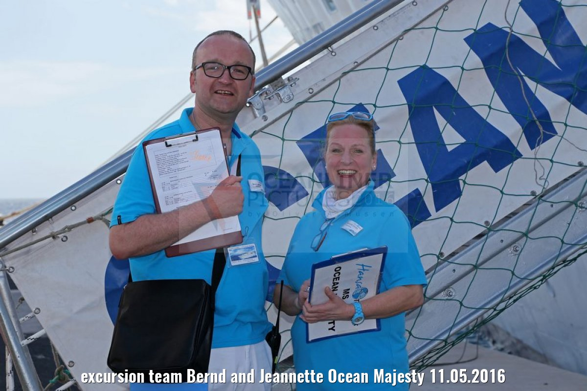 excursion team Bernd and Jeannette Ocean Majesty 11.05.2016