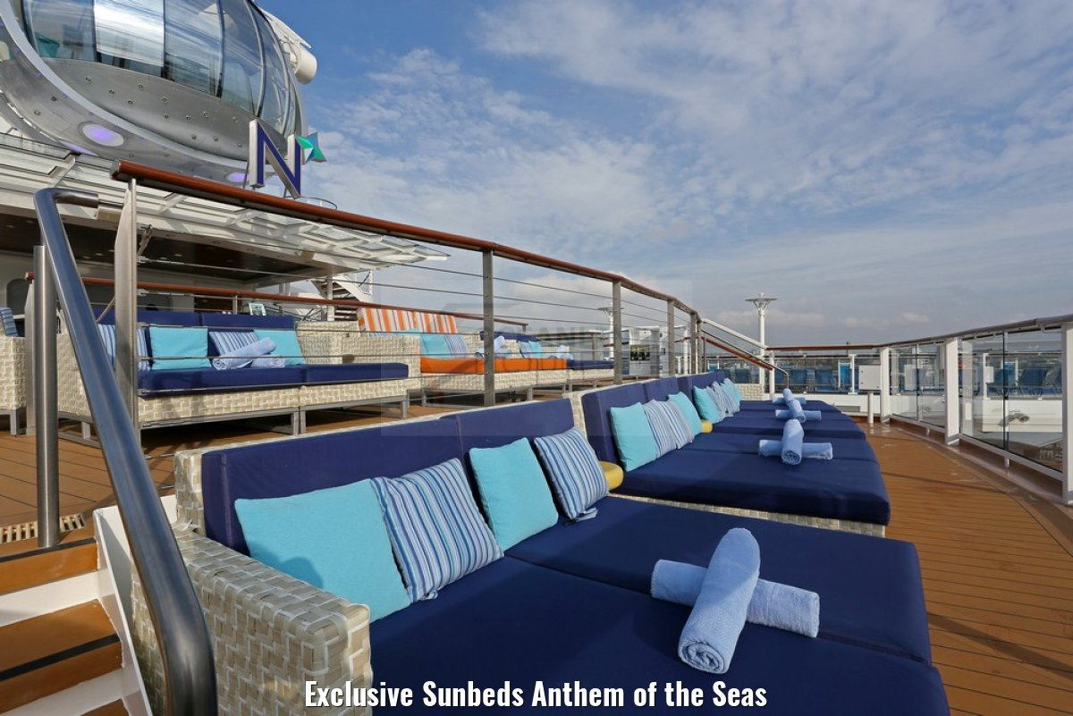 Exclusive Sunbeds Anthem of the Seas
