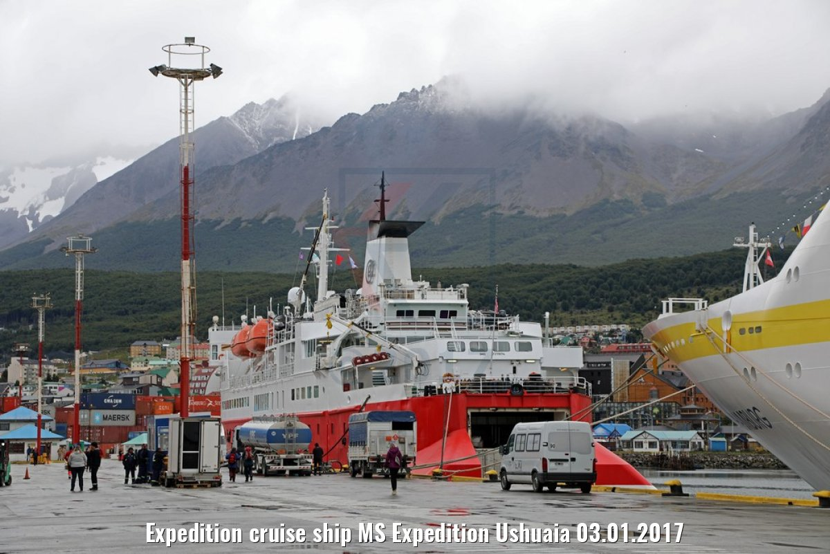 Expedition cruise ship MS Expedition Ushuaia 03.01.2017