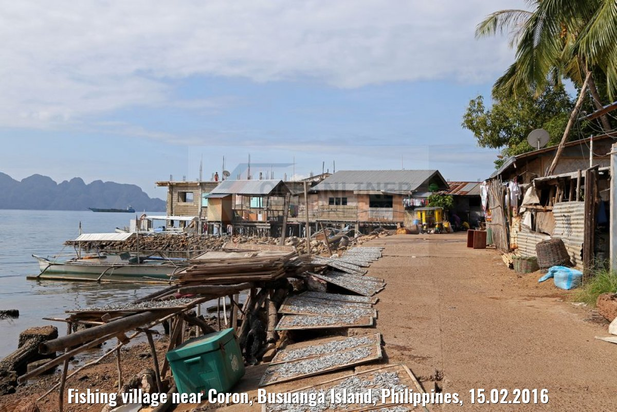 Fishing village near Coron, Busuanga Island, Philippines, 15.02.2016
