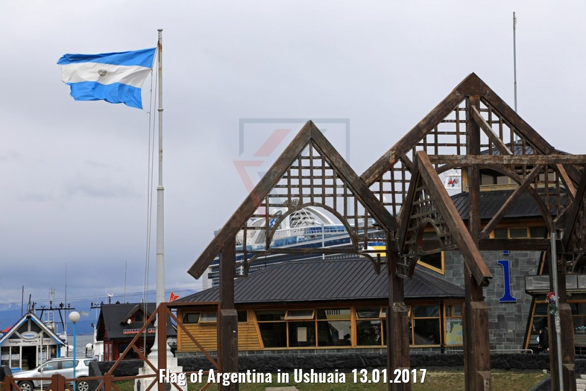 Flag of Argentina in Ushuaia 13.01.2017