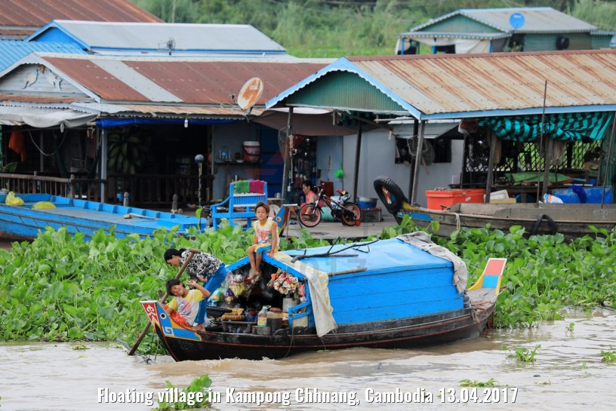 Floating village in Kampong Chhnang, Cambodia 13.04.2017
