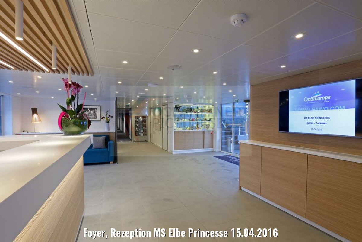 Foyer, Rezeption MS Elbe Princesse 15.04.2016