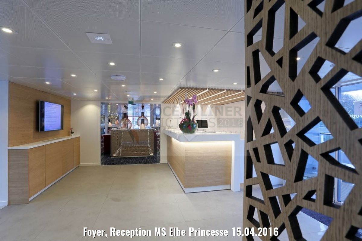 Foyer, Reception MS Elbe Princesse 15.04.2016