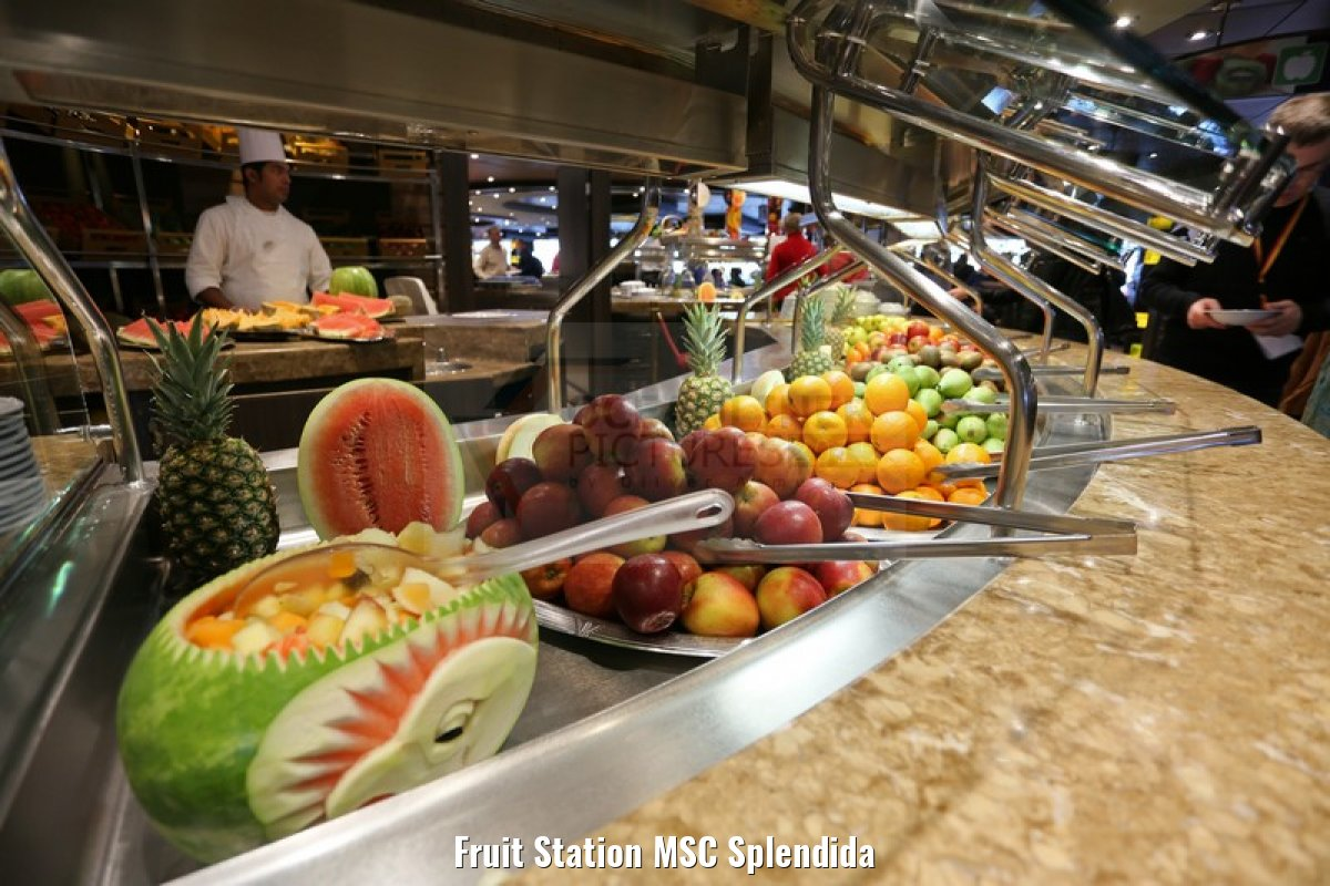 Fruit Station MSC Splendida