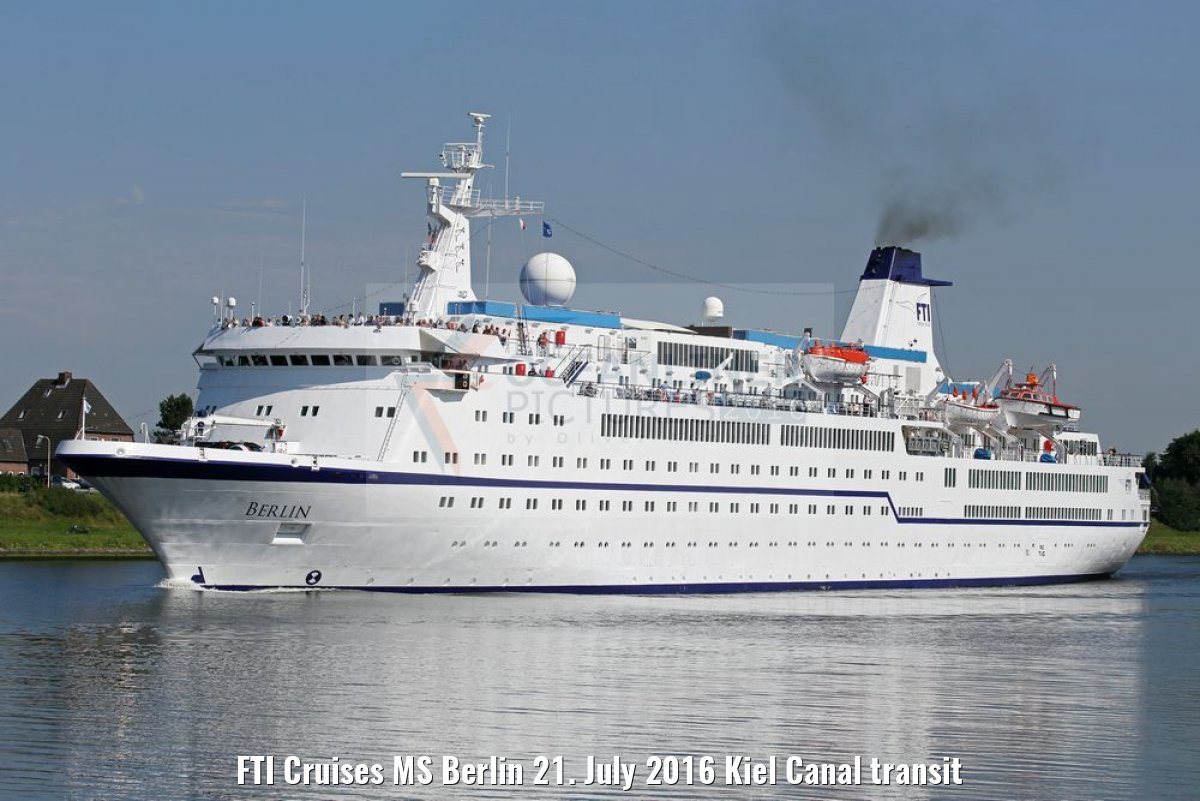 FTI Cruises MS Berlin 21. July 2016 Kiel Canal transit