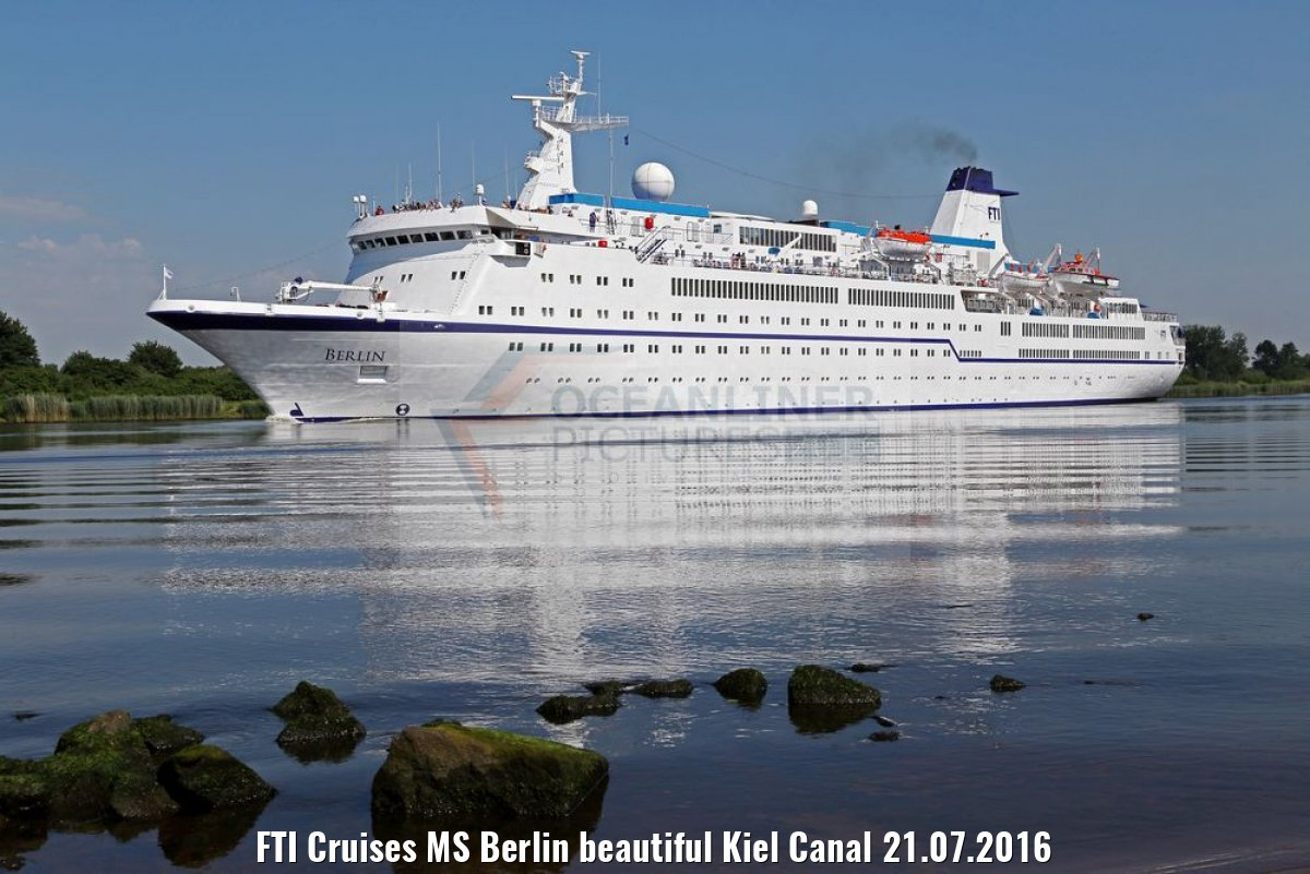 FTI Cruises MS Berlin beautiful Kiel Canal 21.07.2016