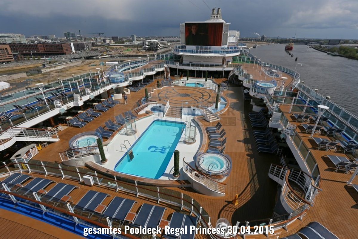 gesamtes Pooldeck Regal Princess 30.04.2015