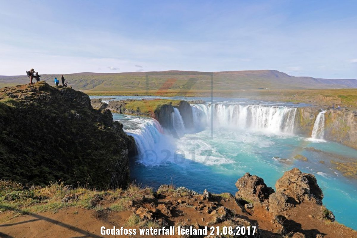 Godafoss waterfall Iceland 21.08.2017