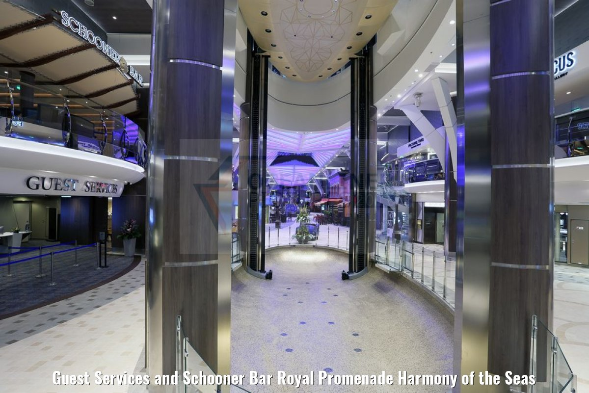 Guest Services and Schooner Bar Royal Promenade Harmony of the Seas