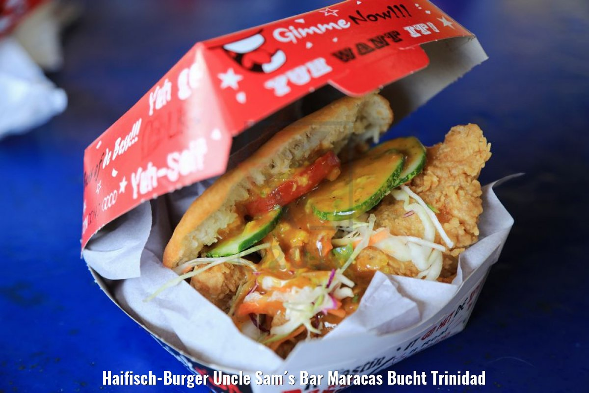 Haifisch-Burger Uncle Sam´s Bar Maracas Bucht Trinidad