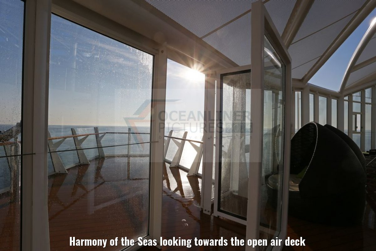 Harmony of the Seas looking towards the open air deck
