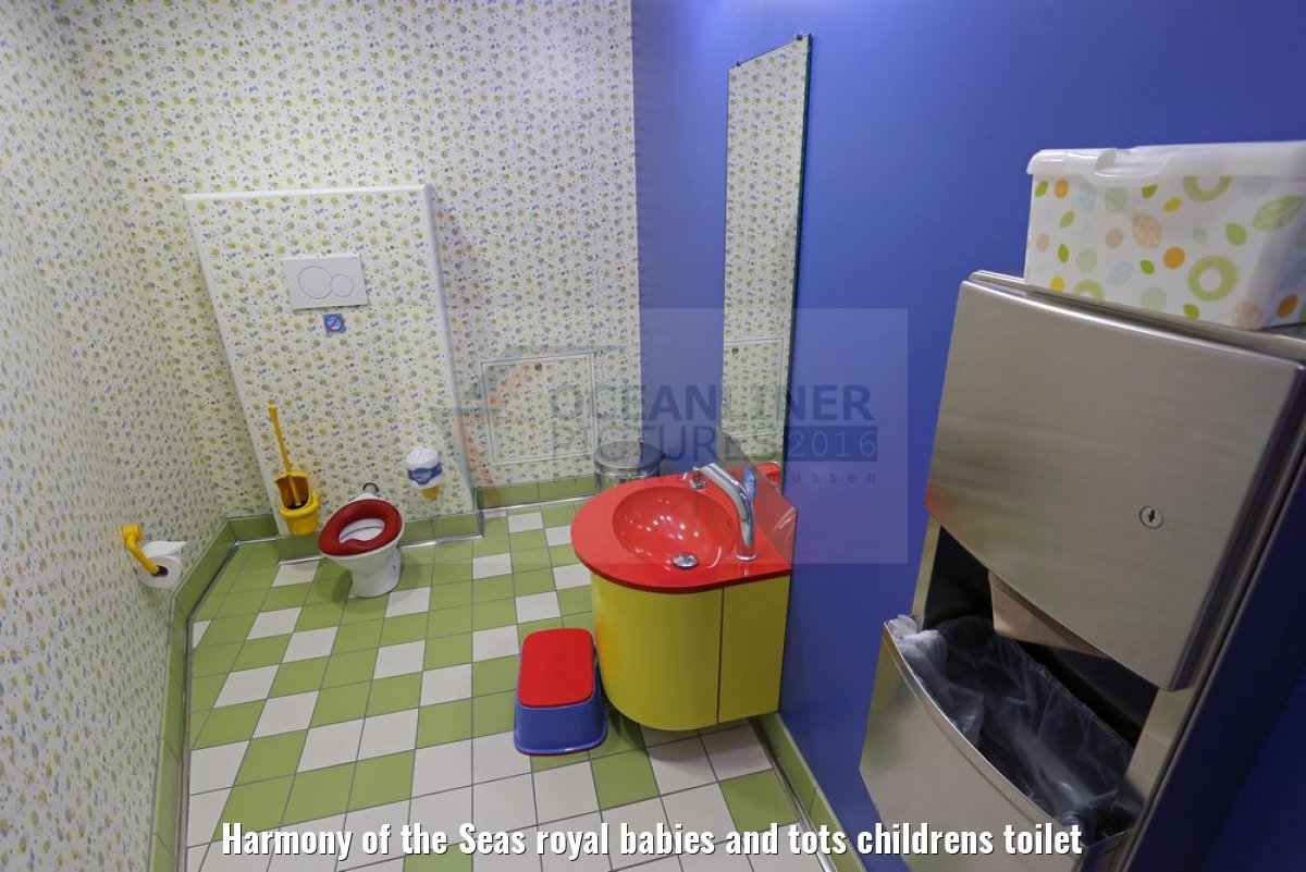 Harmony of the Seas royal babies and tots childrens toilet