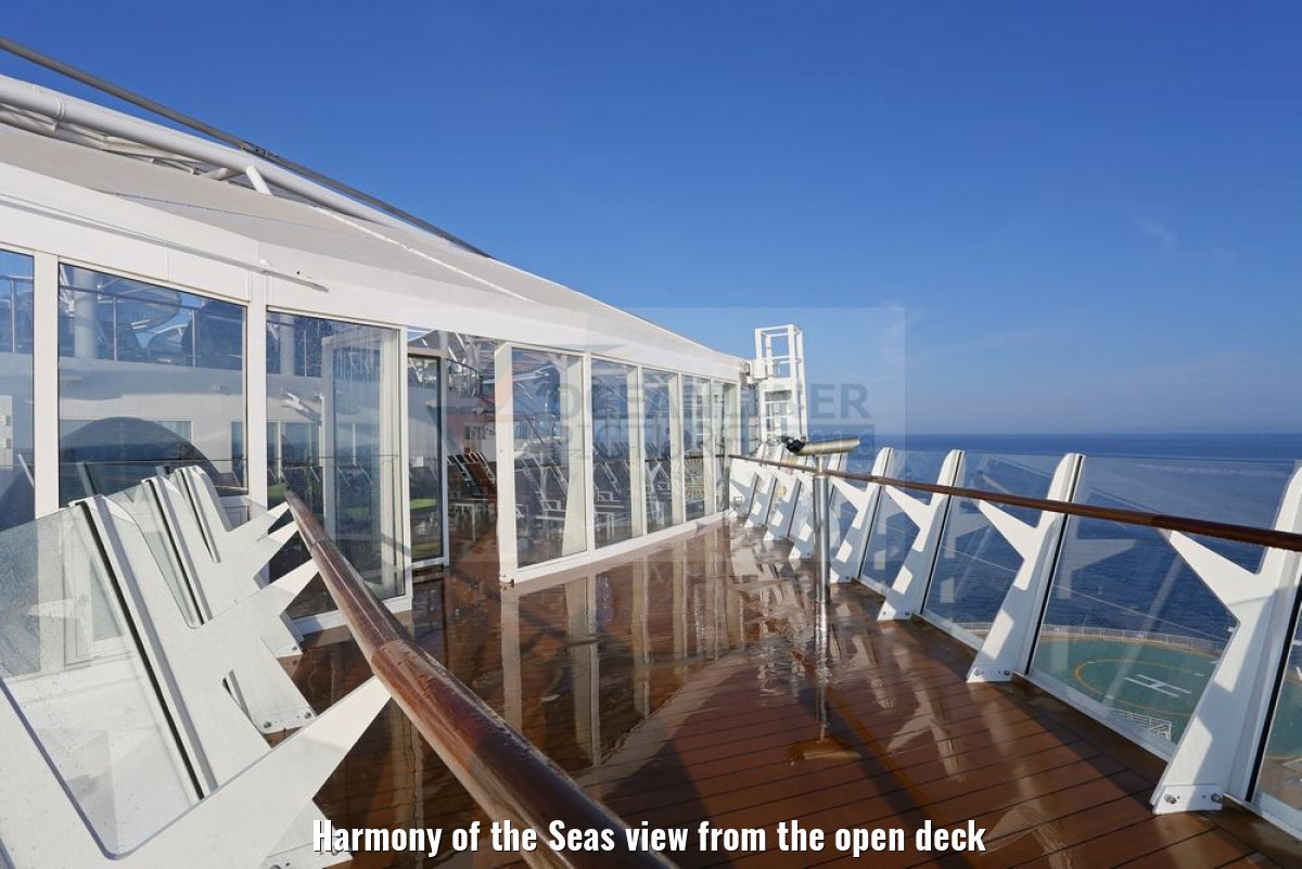 Harmony of the Seas view from the open deck