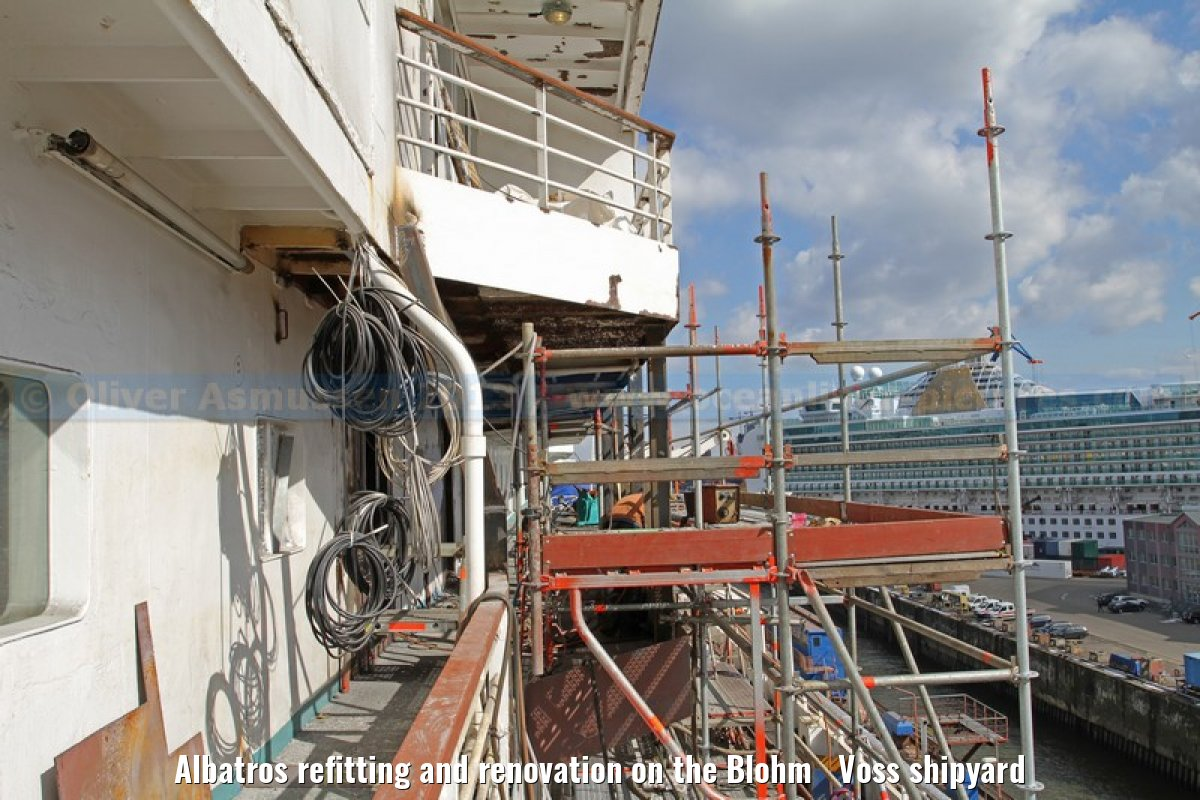 Albatros refitting and renovation on the Blohm Voss shipyard