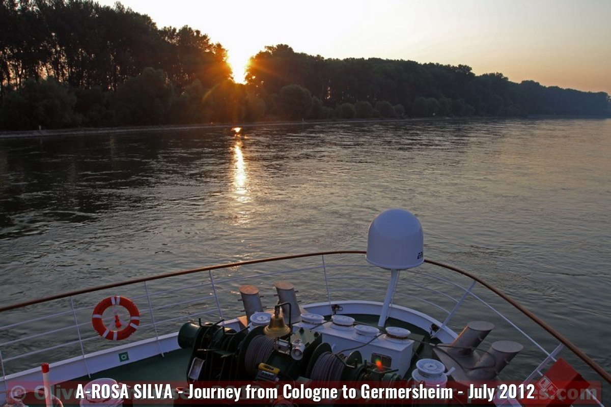 A-ROSA SILVA - Journey from Cologne to Germersheim - July 2012