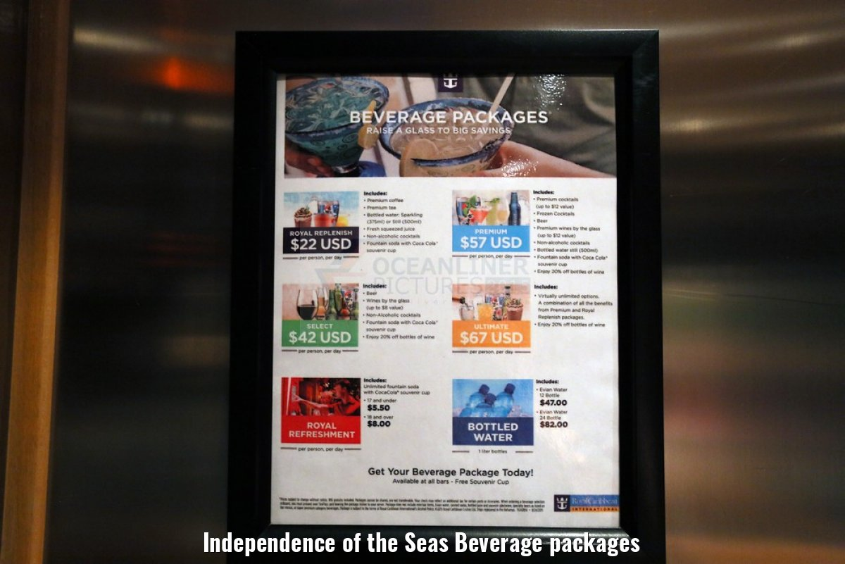 Independence of the Seas Beverage packages