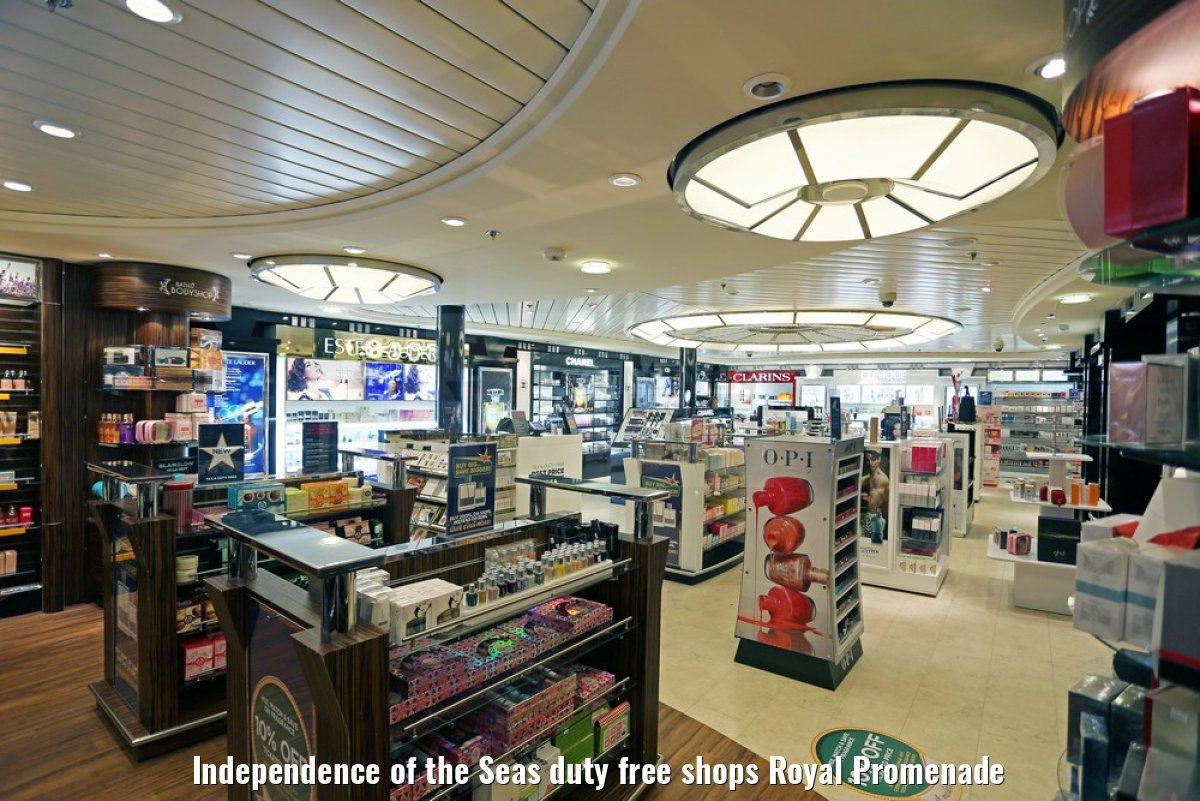 Independence of the Seas duty free shops Royal Promenade