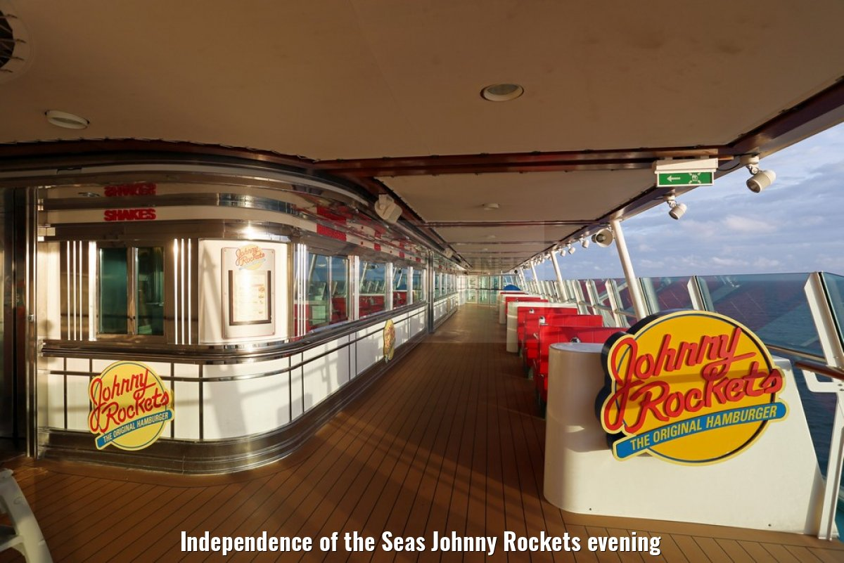 Independence of the Seas Johnny Rockets evening