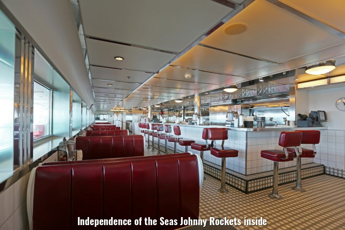 Independence of the Seas Johnny Rockets inside
