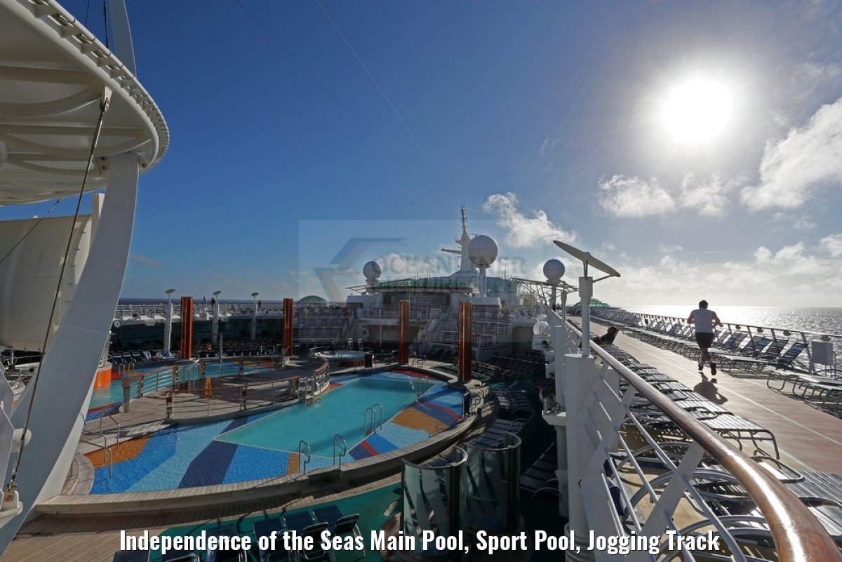 Independence of the Seas Main Pool, Sport Pool, Jogging Track