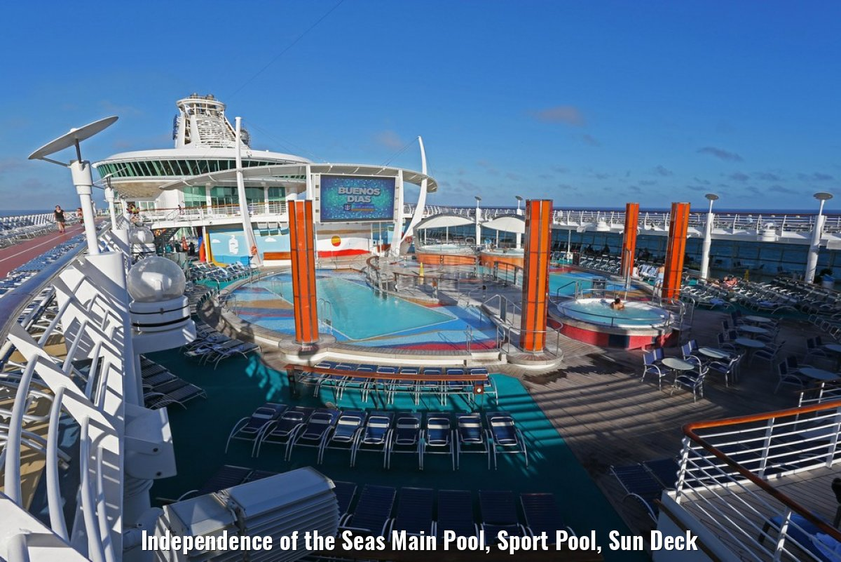 Independence of the Seas Main Pool, Sport Pool, Sun Deck