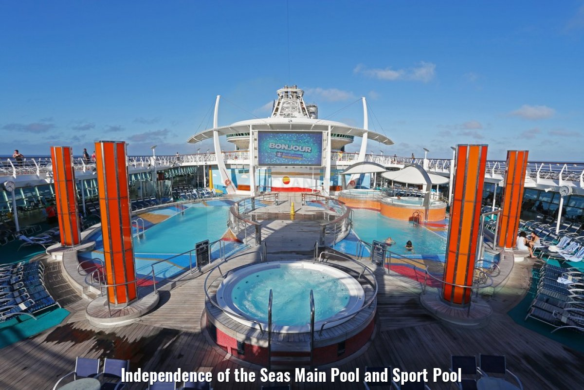 Independence of the Seas Main Pool and Sport Pool