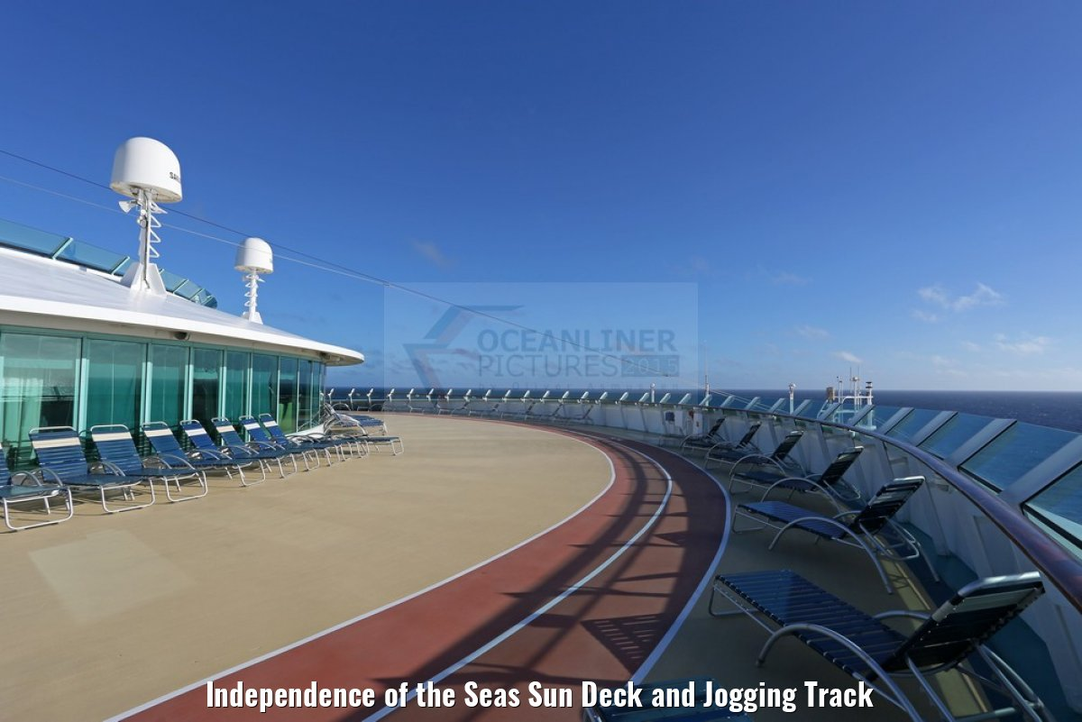 Independence of the Seas Sun Deck and Jogging Track