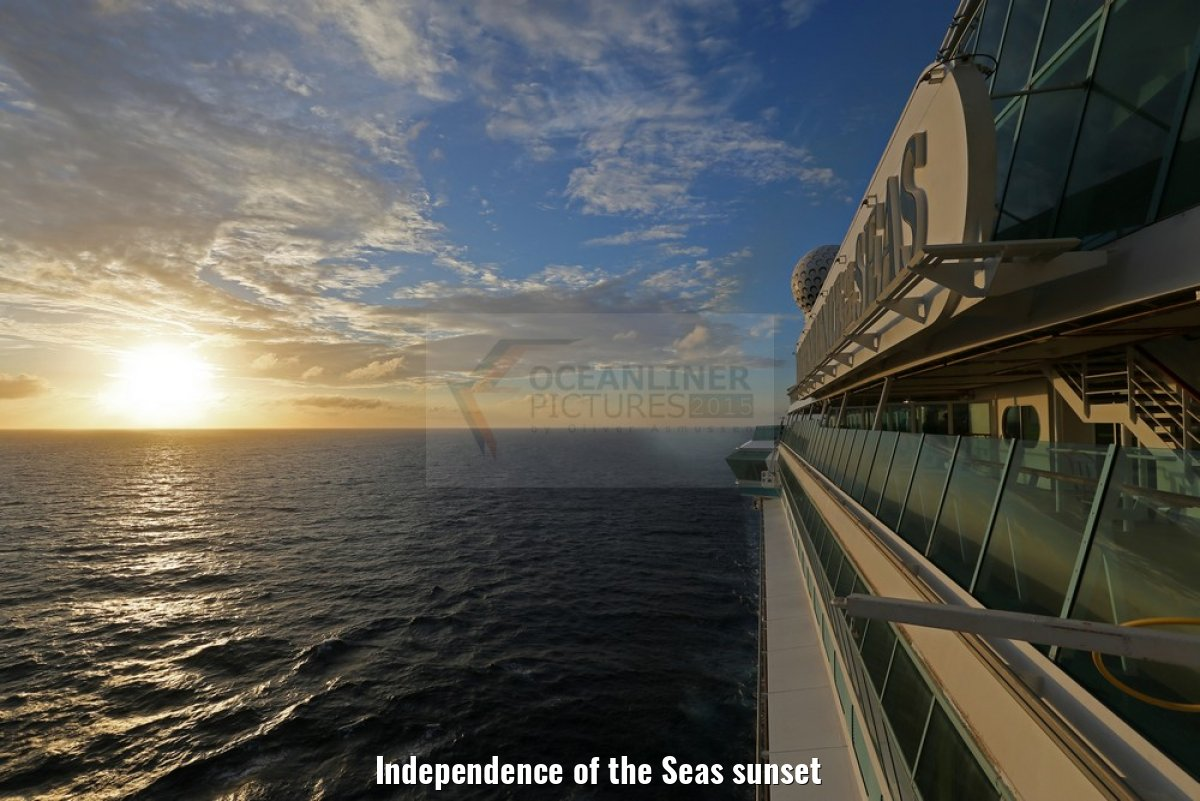 Independence of the Seas sunset