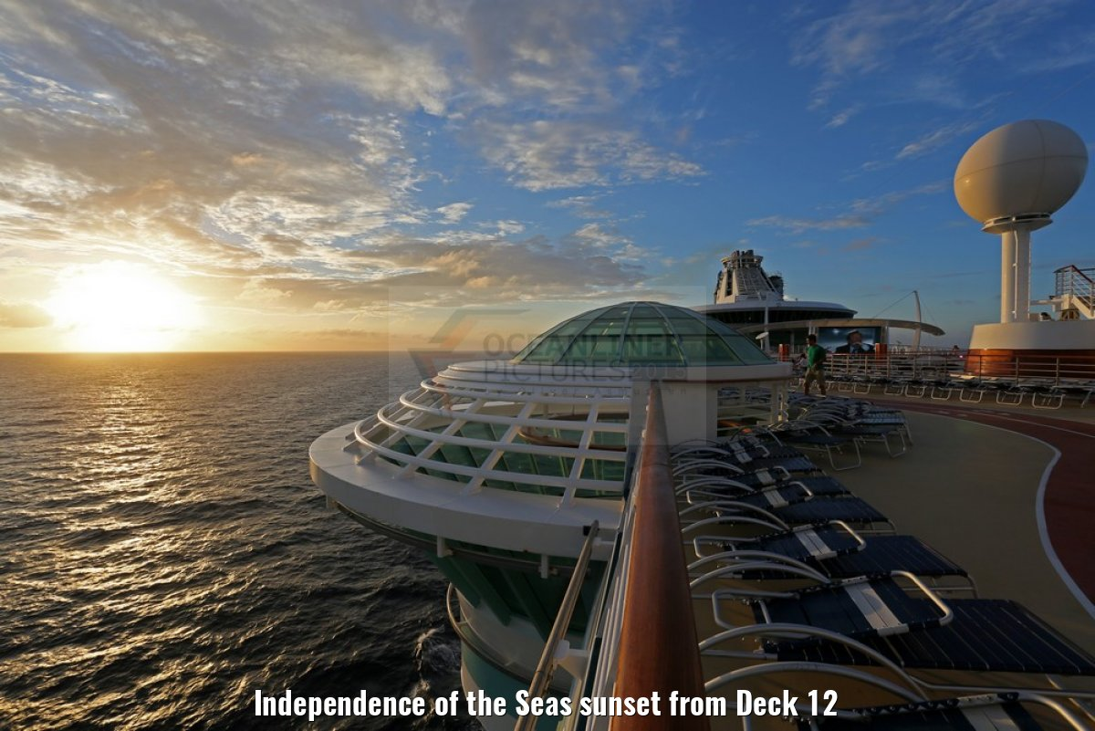 Independence of the Seas sunset from Deck 12