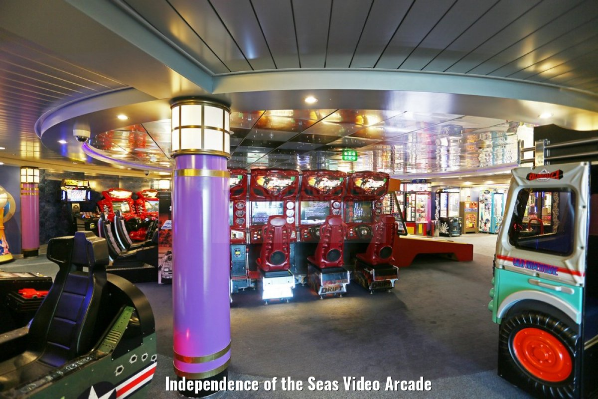 Independence of the Seas Video Arcade