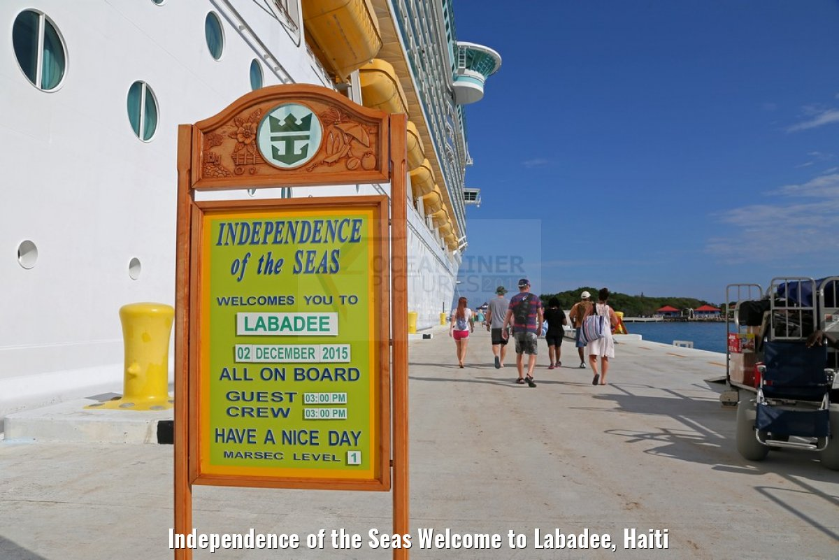 Independence of the Seas Welcome to Labadee, Haiti