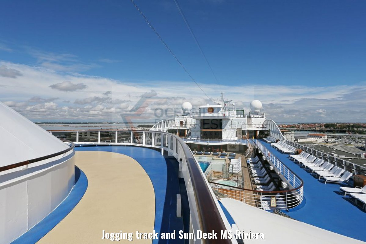 Jogging track and Sun Deck MS Riviera