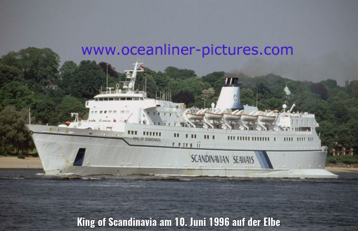King of Scandinavia am 10. Juni 1996 auf der Elbe