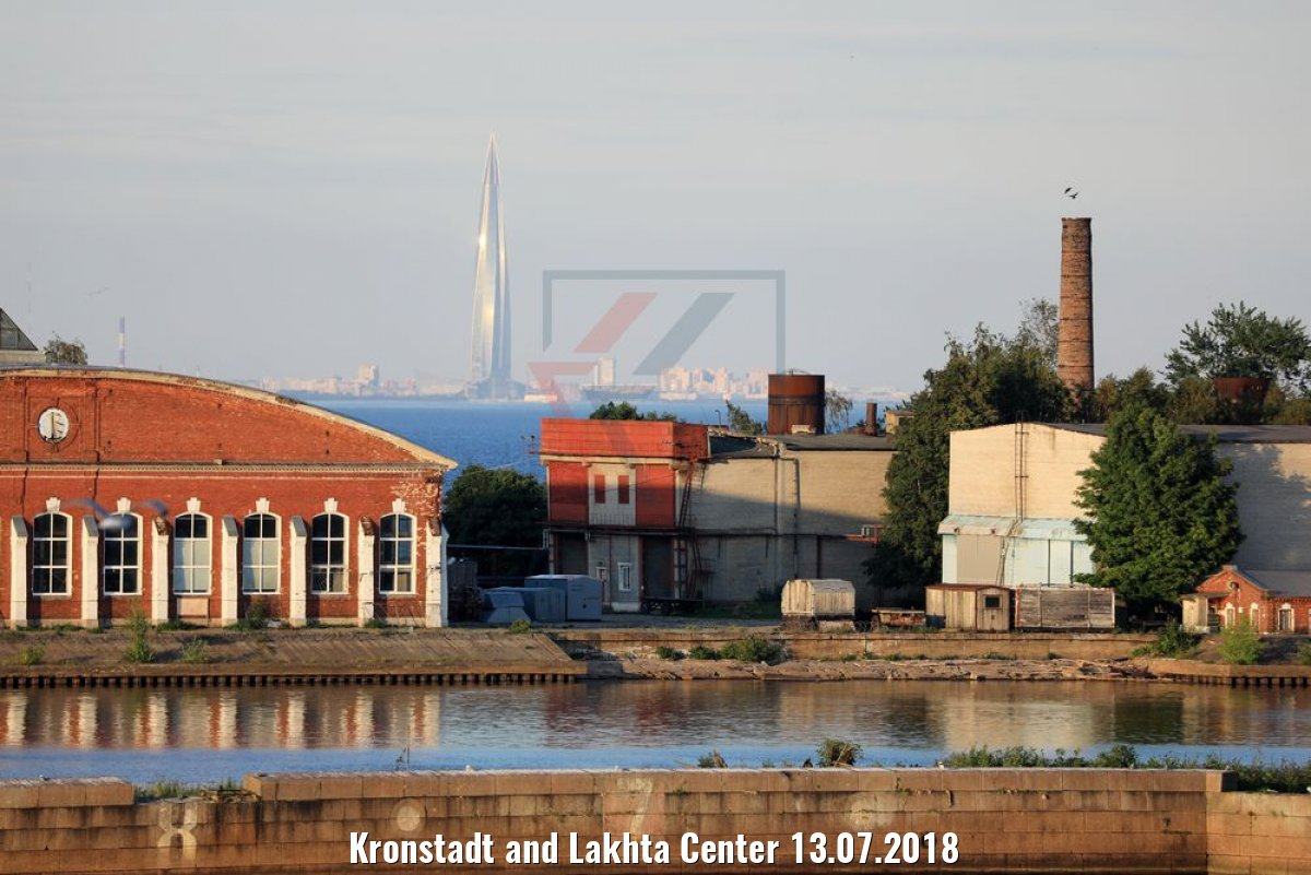 Kronstadt and Lakhta Center 13.07.2018
