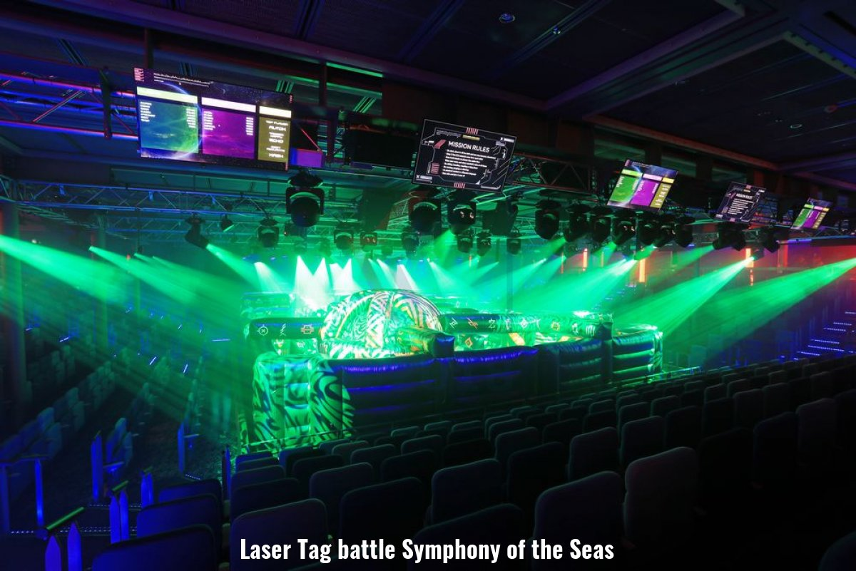 Laser Tag battle Symphony of the Seas