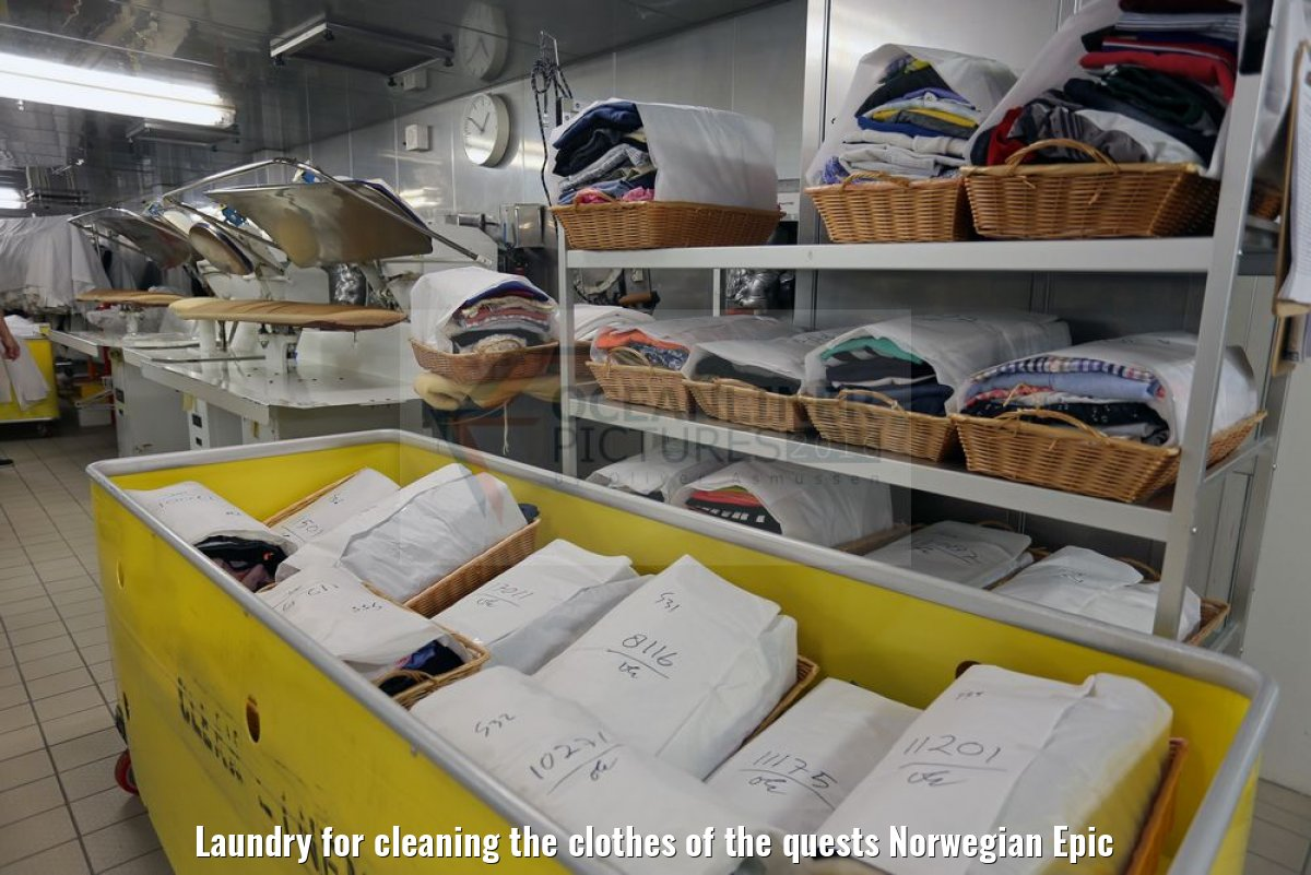 Laundry for cleaning the clothes of the quests Norwegian Epic