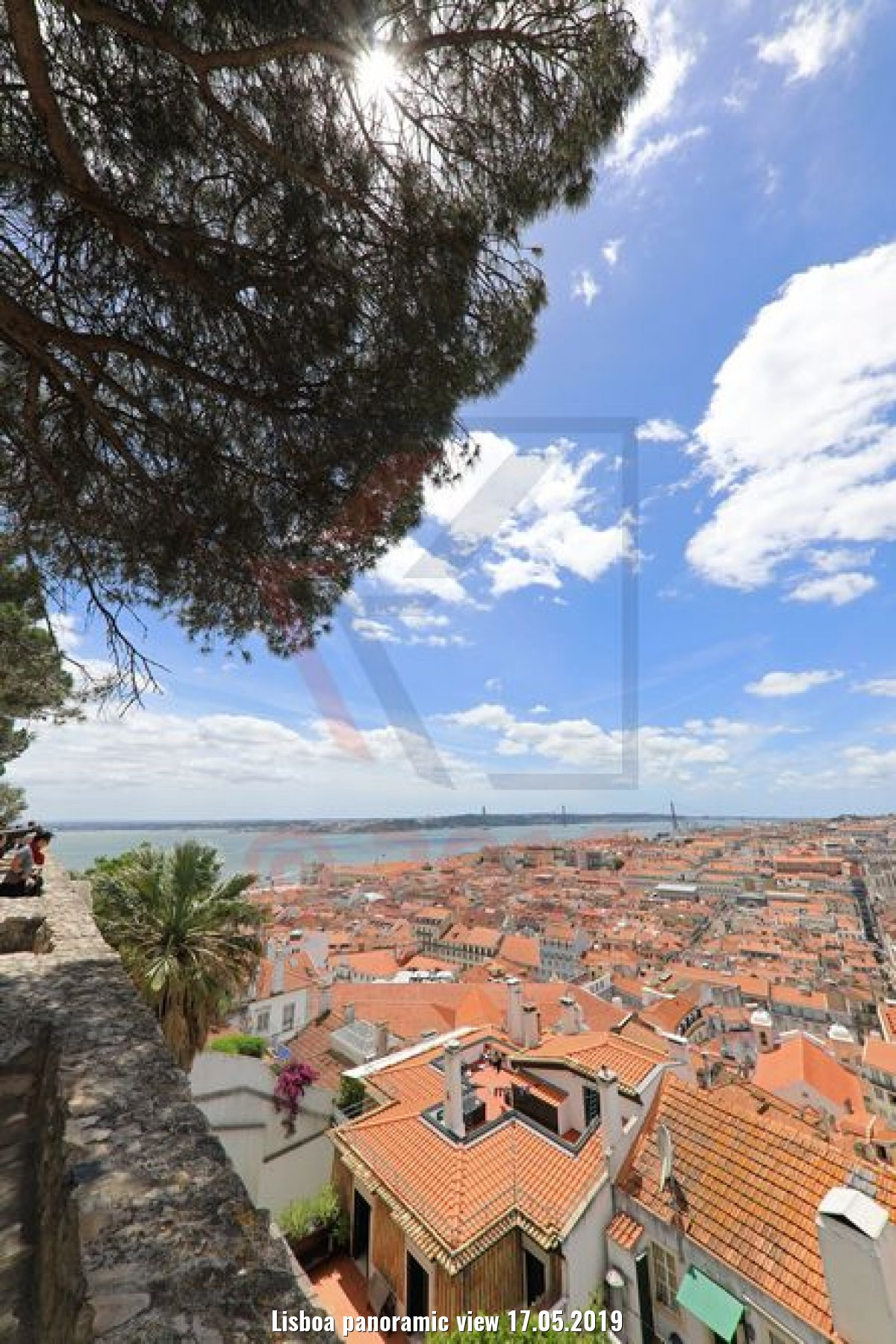 Lisboa panoramic view 17.05.2019