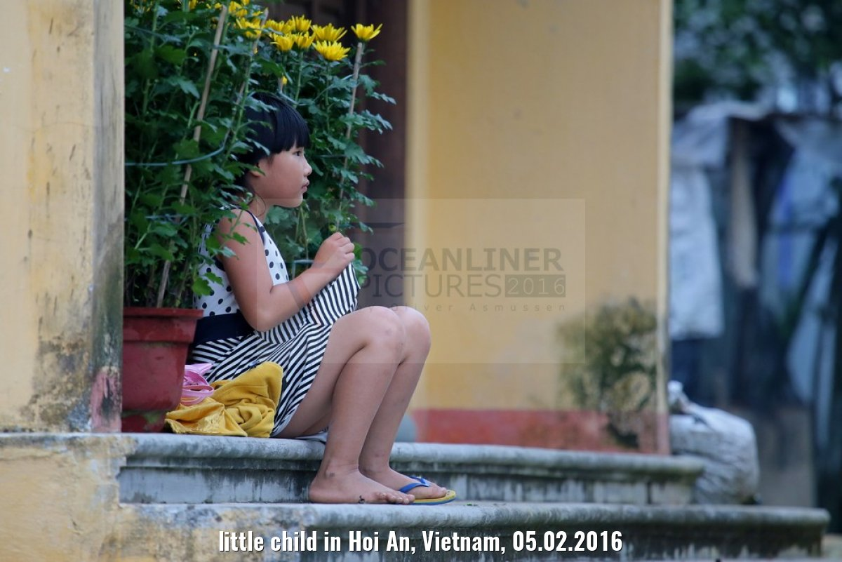 little child in Hoi An, Vietnam, 05.02.2016