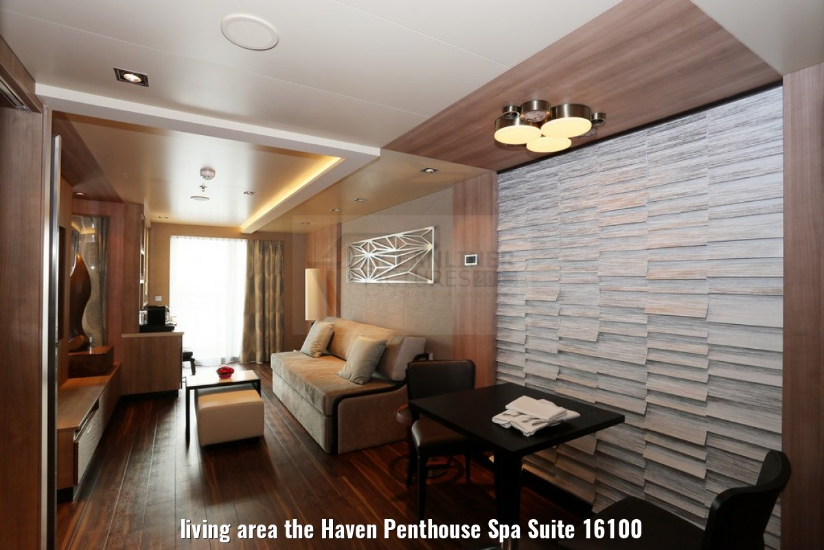 living area the Haven Penthouse Spa Suite 16100