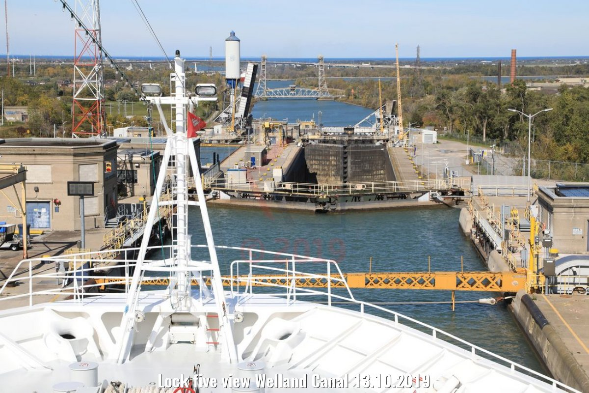 Lock five view Welland Canal 13.10.2019